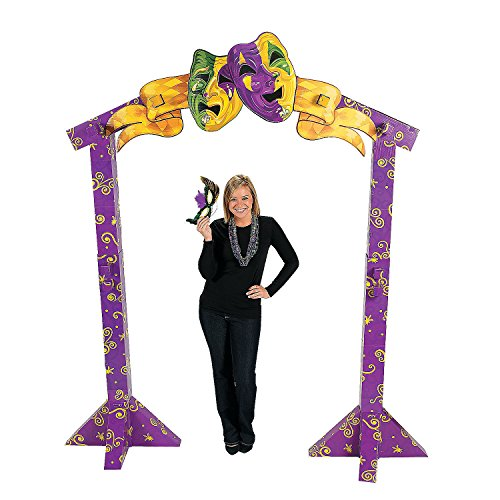 Fun Express - 3d Bourbon Street Arch Way for Mardi Gras - Party Decor - Large Decor - Archways - Mardi Gras - 1 Piece