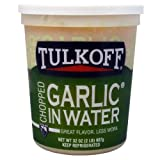 Tulkoff Chopped Natural Garlic - 32 oz. tub, 6 per case