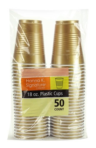 Hanna K. Signature Collection 50 Count Plastic Cup, 18-Ounce, -