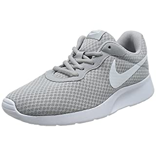 Nike Mens Tanjun Running Sneaker Wolf Grey/White 13