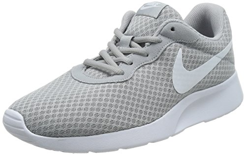 Men's Grey Wolf White Cushioning Uppers Lightweight NIKE Textile Comfortable Sneakers and Tanjun Breathable fAwaBq