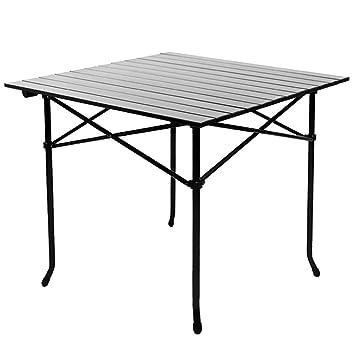 Cqq Mesa de pared Mesa plegable de aluminio al aire libre Mesa plegable plegable Mesa de