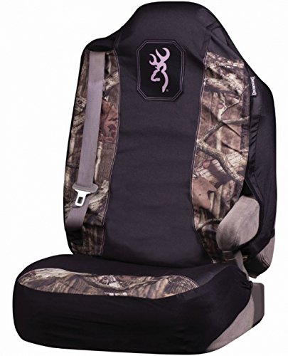 Bucket Seat Headrests (Browning Seat Cover, Universal Fit, Pink, Mossy Oak Infinity Camo, Pack of 1)