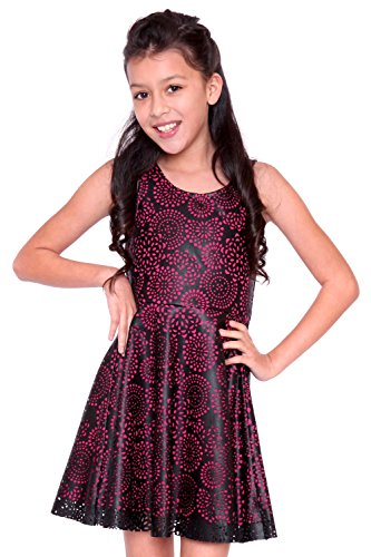 Hannah Banana Big Girls Tween Faux Leather Party Dress b1ffc1145