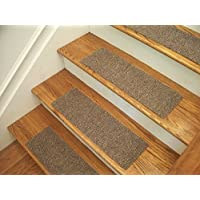 Essential Carpet Stair Treads - Style: Berber - Color: Beige Gray - Size: 24 x 8 - Set of 15