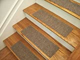 Essential Carpet Stair Treads - Style: Berber - Color: Beige Gray - Size: 24'' x 8'' - Set of 15