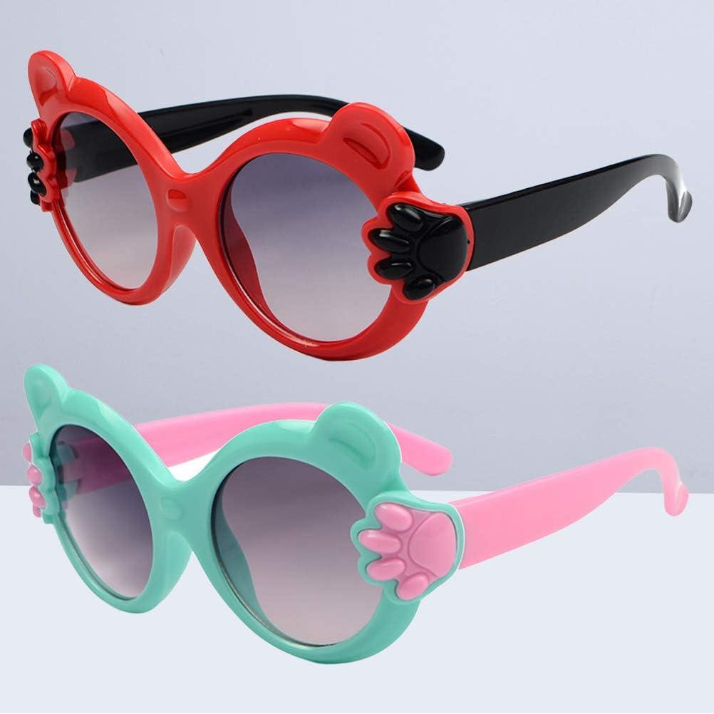 Vosarea 2pcs Kids Sunglasses UV Protection Sunglasses Fun Eyewear for Girls Boys Party Favors