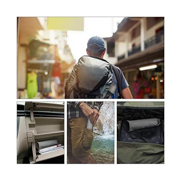 Saco de Emergencia Bivvy Albergue Saco de Dormir Supervivencia Impermeable Manta Hoja de Refugio Aislamiento Térmico… 5