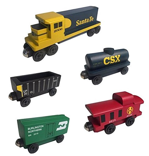 Whittle Shortline Railroad - Manufacturer Yellowbonnet Railway GP-38 Diesel 5pc. Set - Wooden Toy Train