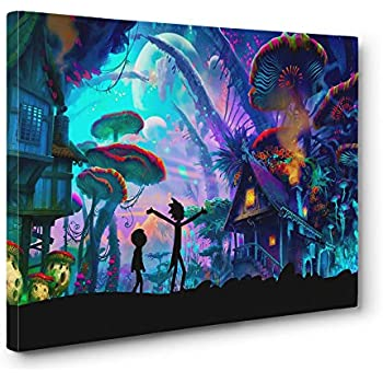 Mushroom World Wall Art Gallery Wrapped Canvas Print (12x18in. Small)