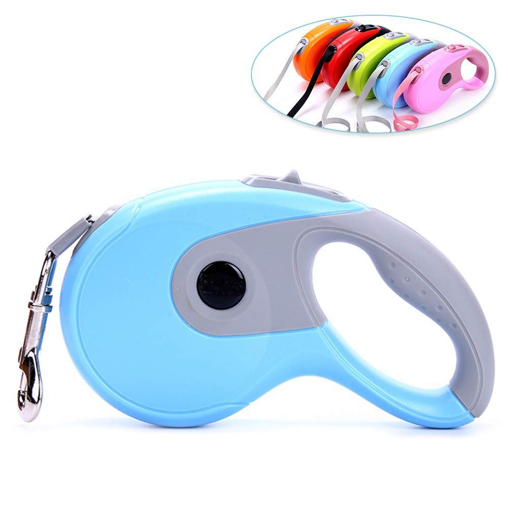 bluee Small bluee Small Retractable Dog Leash,Retractable Pet Rope Locking System Comfortable Ergonomics Non-Slip Handles No Tangles Suitable for All Kinds of Dogs Variety of color