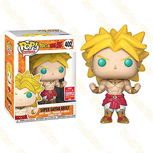 N / A Funko Pop Dragon Ball Super Seven Dragon Ball Z Super Saiyan Broly Hecho A Mano Broly Luminous Limited-Broly_ # 402_ 高 约 10cm_Boxed_Spot Amigo Regalo Regalo Modelo Figurilla Colecciona