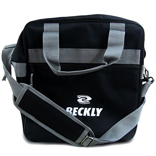 Beckly Super Bowling Tote -Bowling Bag- Fits Your Bowling Ball and Bowling Shoes- Single Bowling Ball Tote- Front Zippered Pocket and inside Shoe Sleeves-Carry and Shoulder Straps-For your Home Bowling Alley or At the Professional Arena- Perfect Bowling equipment- Great Holiday gift For bowling pro or rookie- Made from the Highest Quality Material and Superior craftsmanship- Superior quality bowling ball sports bag- Backed by the Famous Beckly money Back Guarantee!