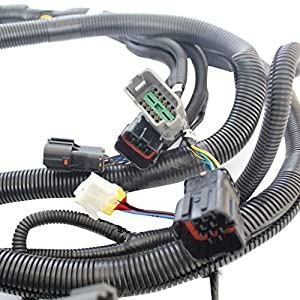 51Ns6H7qTgL._SY300_ amazon com sinocmp 6d102 excavator external wiring harness for Largest Komatsu Excavator at couponss.co