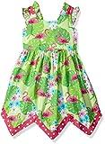 Bonnie Jean Girls' Printed Poplin Sundress Casual Dress, Flamingos, 2 Years