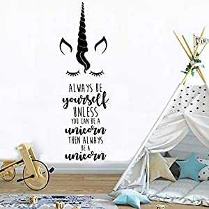 Unicorn Wall Sticker Bedroom Decal Kids Room Wall Decoration for Girls