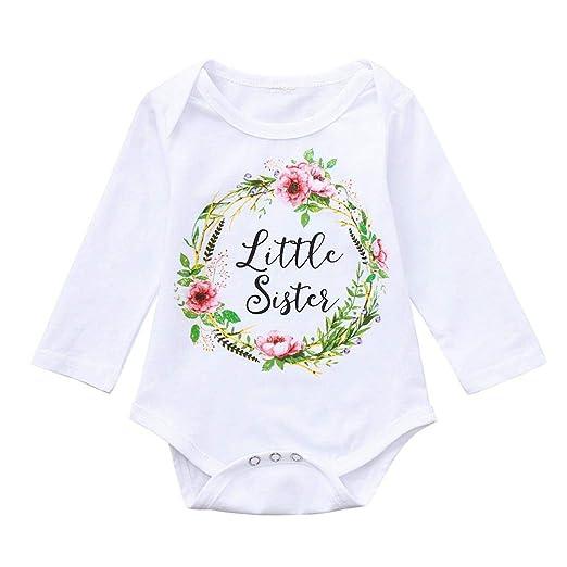 0b4aaf473979 Amazon.com  Infant Baby Girls Boys Long Sleeve Romper Bodysuit ...