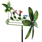 """Bits and Pieces - 15"""" Hummingbird and Dragonfly Whirligig - Durable Wind Spinner - Outdoor Lawn and Garden Décor"""