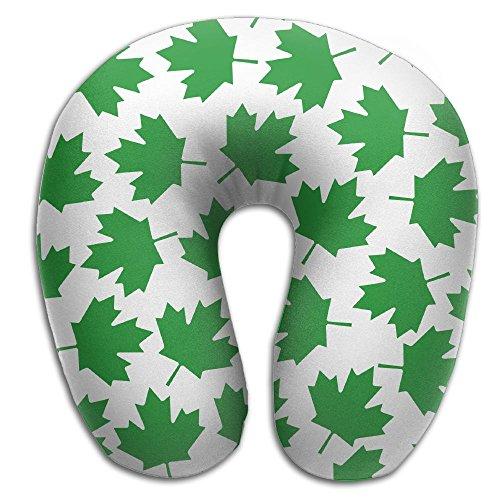 (SARA NELL Memory Foam Neck Pillow Toronto Green Maple Leaf U-Shape Travel Pillow Ergonomic Contoured Design Washable Cover For Airplane Train Car Bus Office)