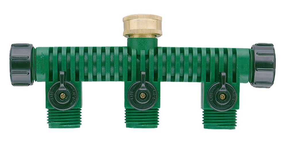 Amazon.com : Orbit 62009 3 Way Plastic Hose Faucet Valve Manifold : Garden  Hose Parts : Garden U0026 Outdoor