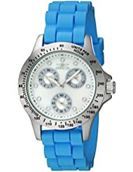 Invicta Womens Speedway Quartz Stainless Steel and Silicone Casual Watch, Color Blue (Model: 21970)