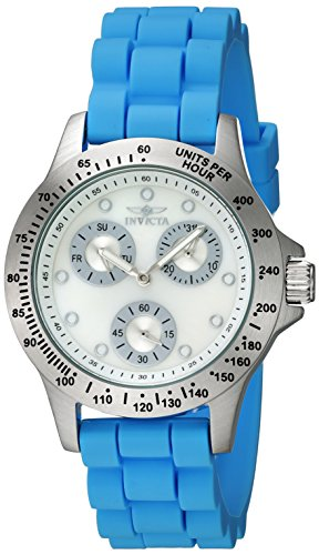Women's 'Speedway' Quartz Stainless Steel and Silicone Casual Watch, Color Blue (Model: ) - Invicta 21970
