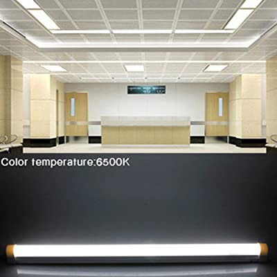 Excellent (Pack of 1) 9W 0.6m 2FT 800LM 48 SMD 2835 Integrated T8 AC85-260V Day White LED Tube Light