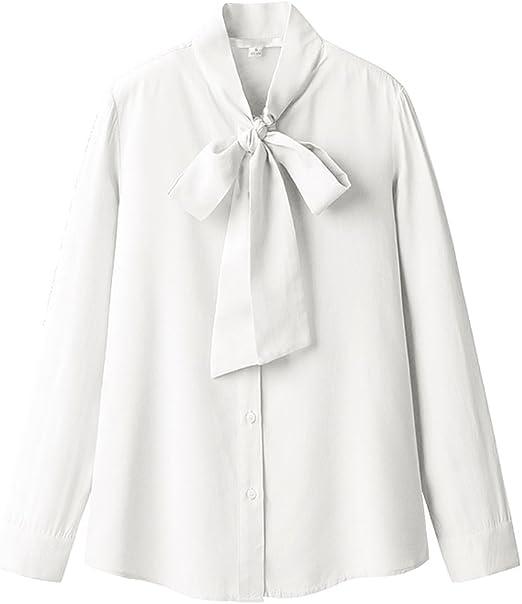 LI SHI XIANG SHOP Camisa de Manga Larga de Blusa de Corbata de ...