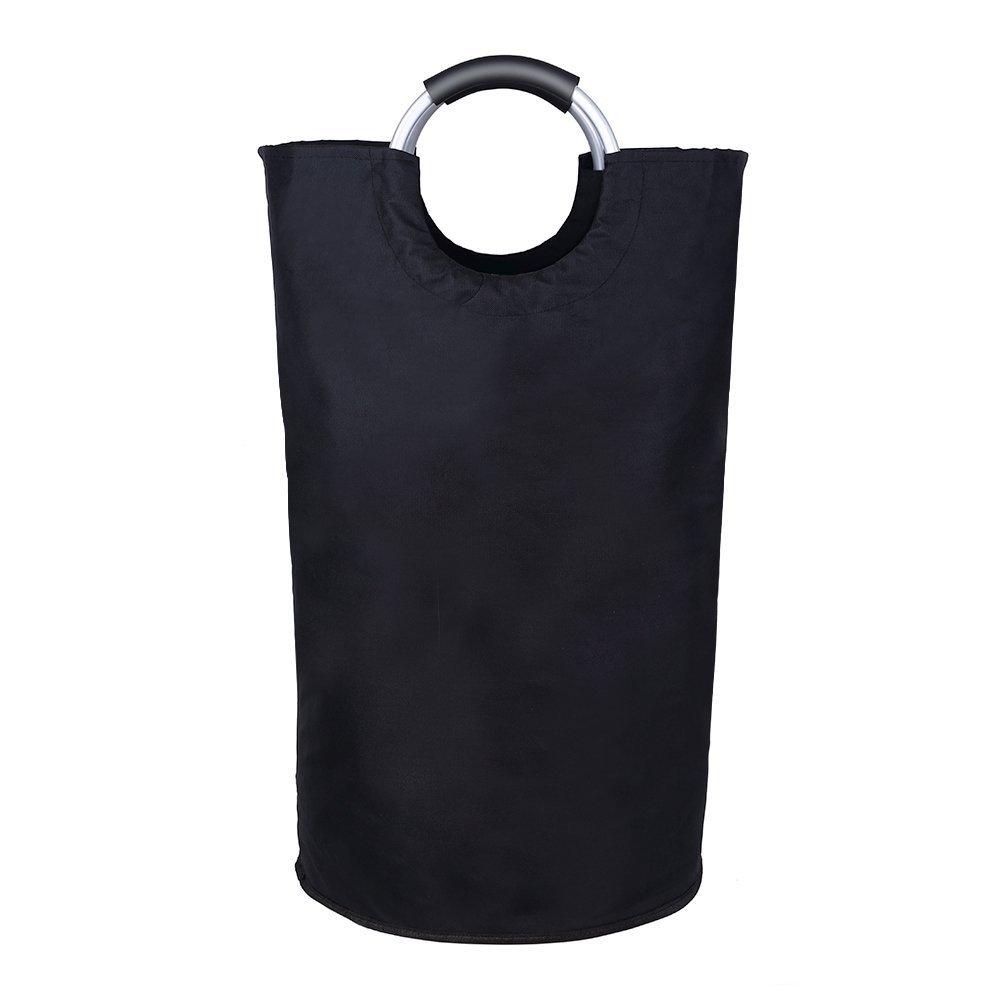 Jebblas Large Laundry Basket, Collapsible Fabric Laundry Hamper, Foldable Clothes Bag, Folding Washing Bin,Black by Jebblas (Image #4)
