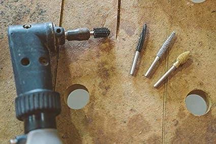 Tungsten Carbide Coating: 1//4 Kutzall Original Flame Burr FL-14-EG 1//8 Shaft - Fine 12.7mm 6.3mm Head Length Head Diameter x 1//2 3.1mm