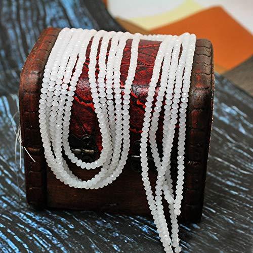 (Calvas 380pcs/lot White Porcelain 23mm Glass Crystal Beads for Necklace & Bracelet CN-BBA040-69)