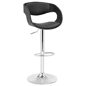Pleasing Bouclair Faux Leather And Metal Pneumatic Bar Stool Gmtry Best Dining Table And Chair Ideas Images Gmtryco