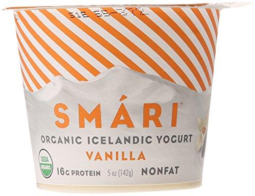 Smari Organic Icelandic Yogurt, Vanilla, Nonfat, 5 oz