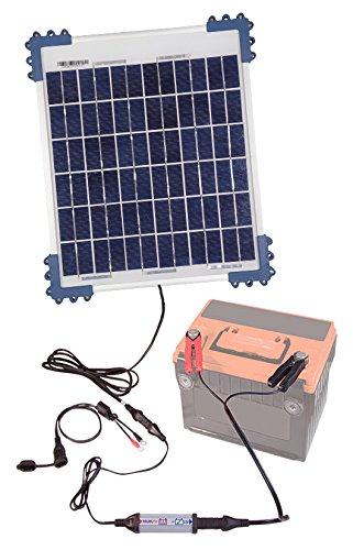 TecMate OptiMate Solar with 10  Watt Solar Panel TM524B Solar Impulse Charger Testing & Maintenance Charger for 12  V Batteries, 10  W Solar Panel 10 W Solar Panel