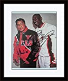 Framed Muhammad Ali Michael Jordan Autograph with Certificate of Authenticity