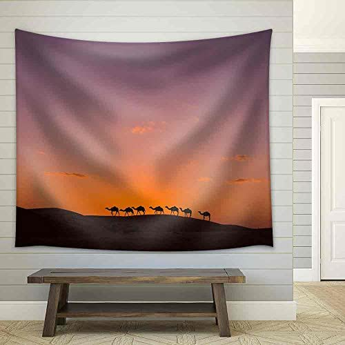 Camel Caravan in The Desert Fabric Wall