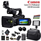Canon XA50 Professional UHD 4K Camcorder (3669C002) W/Extra Battery, Soft Padded Bag, 64GB Memory Card, LED Light, and More Base Bundle