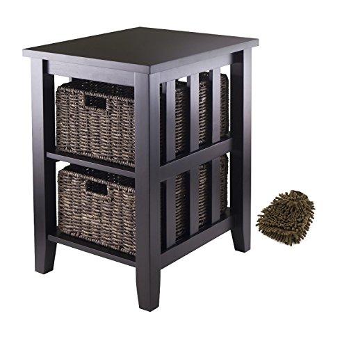 winsome-morris-side-table-2-foldable-baskets-complete-set-w-bonus-premium-microfiber-cleaner-bundle