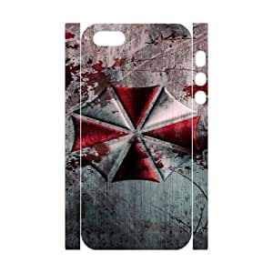 Personalized Durable Cases iphone5 5S 3D Cell Phone Case White Resident Evil Vfjwp Protection Cover