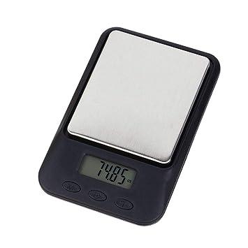 Balanza Digital electrónica de precisión de 0,1 Gramos, 1000 g/0,1 g, Pantalla LCD, báscula de Bolsillo: Amazon.es: Hogar
