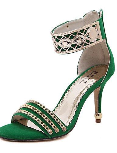 LFNLYX Zapatos de mujer-Tacón Stiletto-Tacones / Punta Abierta / Comfort / Innovador / Punta Redonda / Botas a la Moda / Zapatos y Bolsos a Juego Red