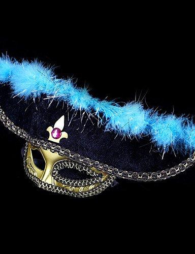 media cara #carnival acc # 17 * 20cm sombrero de pirata máscara , yellow: Amazon.es: Juguetes y juegos