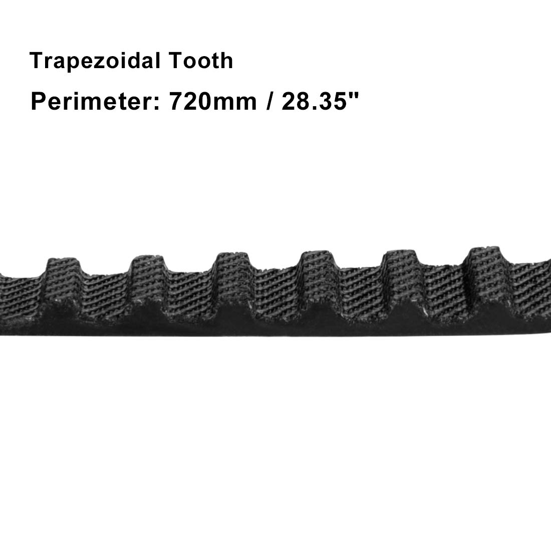 sourcing map T5x720 Gummi Geschlossener Zahnriemen Riemen Zahnriemensatz 10mm Breite DE