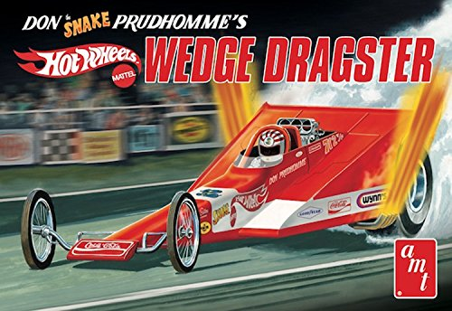 AMT AMT1049 1 Don 'Snake' Prudhomme's Coca Cola Wedge Dragster 'Hot Wheels' , 1:25 Scale
