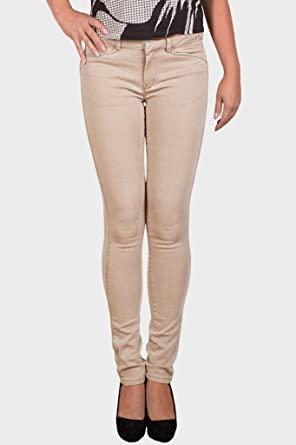 7875e7072e9 MASSIMO DUTTI Womens Designer Slim Fit Jeans Cotton Twill Beige Skinny  Trousers Stone UK Sizes  Amazon.co.uk  Clothing