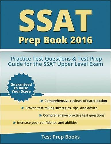 Ssat prep book 2016 ssat upper level practice test questions and ssat prep book 2016 ssat upper level practice test questions and test prep guide test prep books fandeluxe Image collections