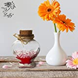 #1: Heart Shaped Gift Set by Luffy -- Unique Christmas Gift for a Special One - Bonding DIY activity with Friends & Family - Includes a Heart Shaped Bottle with Cork Stopper, Sand, Decorative Diamonds