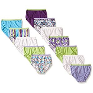 Fruit of the Loom Little Girls' Assorted Briefs (Pack of 12)