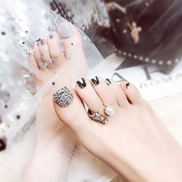 Zantec® - Pegatina de uñas postizas de acrílico francés con pegamento de 2 g (24 unidades): Amazon.es: Belleza