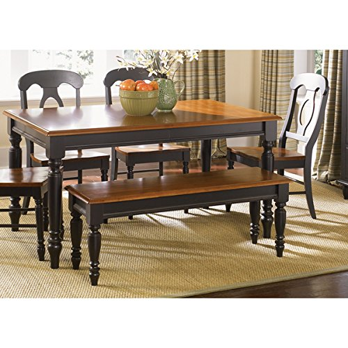 Farmhouse Country Anchor Black and Bronze Dining Bench